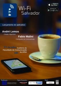 Cartaz lançamento do app Wi-Fi Salvador