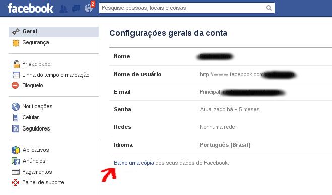 Como baixar dados FB
