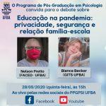 LIVE | Educação na pandemia: privacidade, segurança e relação família-escola